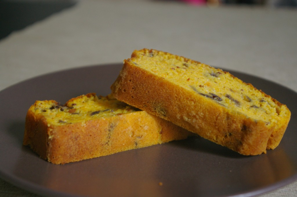tranches cake potiron carotte