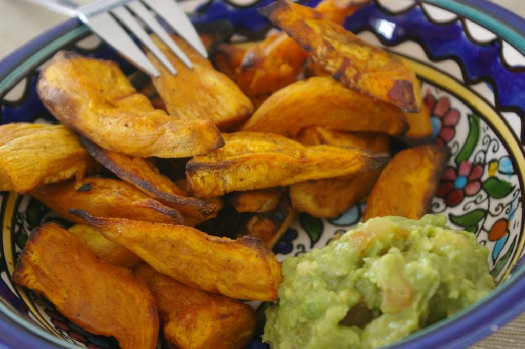 patates douces et guacamole