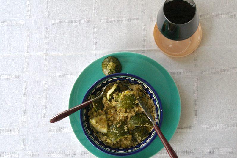 assiette de courgettes et semoule
