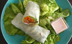 salad roll saumon